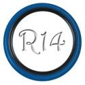 Флиппер Twin Color black-blue R14 (1 шт.)
