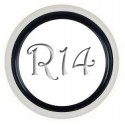 Флиппер Twin Color black-white R14 (1 шт.)