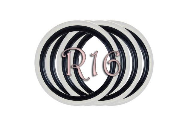 Флипперы Twin Color black-white R16 (4 шт.)