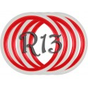 Флипперы Twin Color red-white R13 (4 шт.)