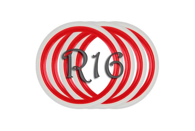 Флипперы Twin Color red-white R16 (4 шт.)