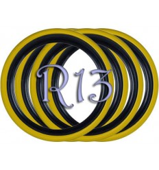 Флипперы Twin Color black-yellow R13 (4 шт.)