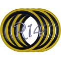 Флипперы Twin Color black-yellow R14 (4 шт.)