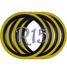 Флипперы Twin Color black-yellow R15 (4 шт.)