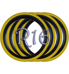 Флипперы Twin Color black-yellow R16 (4 шт.)