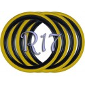 Флипперы Twin Color black-yellow R17 (4 шт.)