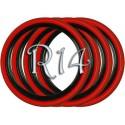 Флипперы Twin Color black-red R14 (4 шт.)