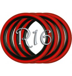 Флипперы Twin Color black-red R13 (4 шт.)