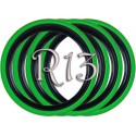 Флипперы Twin Color black-green R13 (4 шт.)