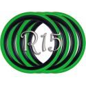 Флипперы Twin Color black-green R15 (4 шт.)