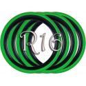 Флипперы Twin Color black-green R16 (4 шт.)