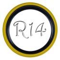 Флиппер Twin Color black-yellow R14 (1 шт.)